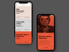 MNW- mobile designed by Milena Trefler. Connect with them on Dribbble; Mobile Ui Design, Interface Design, Interaktives Design, Design Food, App Ui Design, Web Design Color, Best Ui Design, Responsive Web Design, Poster Sport