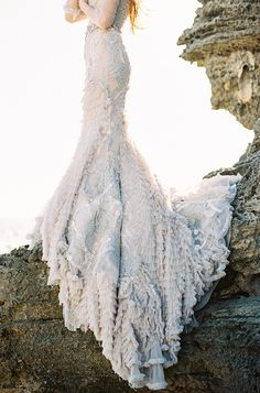 Incredible sequin-lace-wedding-gown | by feather and stone