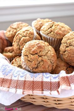 Wholesome Oatmeal Spice Muffins are perfectly spiced with crunchy tops and pillowy centers, making them a delicious breakfast on-the-go or anytime snack! Yield: 22 to 24 muffins Ingredients 2 cups … Spice Muffin Recipe, Oatmeal Breakfast Muffins, Healthy Muffin Recipes, Snacks Recipes, Cookie Recipes, Dessert Recipes, Healthy Muffins, Healthy Breakfasts, Healthy Sweets