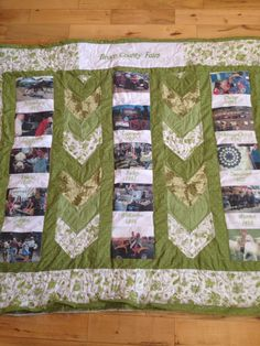 A picture quilt I made for the fair, using a chevron pattern to break up the photos! Still needs binding County Fair, Chevron, Photos, Pictures, Hands, Crafty, Quilts, Blanket, Pattern