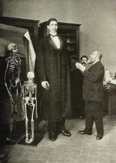 The tallest man in world history, Fyodor Makhnov. He was 2.85 m (9.25 ft) tall and weighed about 182 kg (401.24 lb). 1900s.