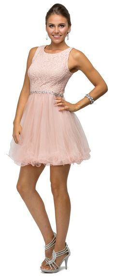 This homecoming prom short dress comes with sleeveless, open back, scoop neck…