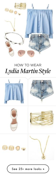 """""""Lydia Martin"""" by cas-teenwolflover14 on Polyvore featuring One Teaspoon, Sandy Liang, BEA, LULUS, Lipsy and Ray-Ban"""