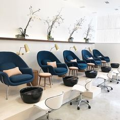 The nail salon of our dreams is a reality @palomanails in Houston, TX. Our Cypress Articulating sconce - a collaboration with @cedarandmoss - is used expertly in this salon to give a sophisticated and strategic light source to those enjoying a pedicure.  Photo by @sugarandcloth, salon designed in collaboration with @contentarchitecture, @palomanails, @g2ld_, & @htxmadelocal. #rejuvespotted #nwmodern #cedarandmoss #escapetobeautiful
