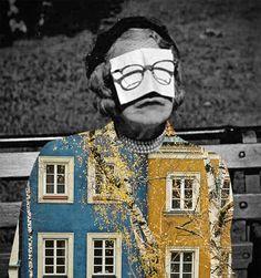 merve-ozaslan graphic art black and white vintage picture with architecture collage Surrealist Collage, Art Du Collage, Collage Illustration, Mixed Media Collage, Digital Collage, Canvas Collage, Digital Art, Photomontage, Photoshop