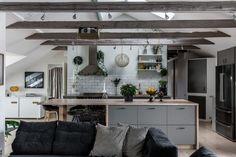 A Cozy Scandinavian Attic in Stockholm, Sweden