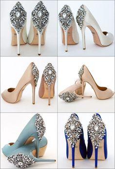 Wedding Women Shoes Heels Accessories Beaded Rhinestone Motif | Etsy Wedge Wedding Shoes, Wedding Heels, Bridal Shoes, Wedge Shoes, Shoes Heels, High Heels, Shoes Sneakers, Wedding Blue, Yeezy Shoes
