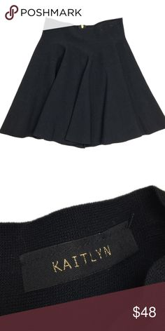 Kaitlyn Black Stretch Skater Skirt Used in Excellent Condition/ No Trades/ No PayPal/ Smoke & Pet Free Home/ Offers welcome/ Please Ask Questions! / please zoom in the clips from the hangers left Stretch points KAITLYN Skirts Circle & Skater
