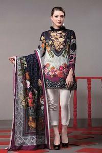 Ethnic Mosaic Floral Festive 2017 - Original Online Shopping Store Whatsapp: 00923452355358 Website: www. New Pakistani Dresses, Pakistani Couture, Pakistani Bridal Wear, Pakistani Dress Design, Pakistani Girl, Pakistan Fashion, Crop Top Shirts, Simple Dresses, Casual Dresses