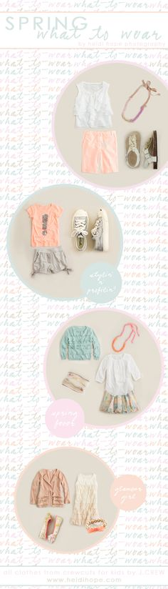 love the exclamation outfit  I like these pale hues of peach, auqua white & kaki for pictures!