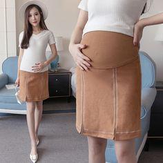 c08fccd9233 Maternity Skirts Elastic Waist Belly Skirts for Pregnant Women Maternity  Skirts