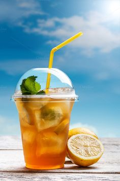 Lemon ice tea by Grafvision photography on @creativemarket