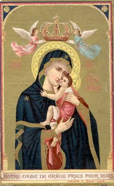 [Our Lady of Grace] Blessed Mother Mary, Divine Mother, Blessed Virgin Mary, Religious Symbols, Religious Art, Hail Holy Queen, Images Of Mary, Queen Of Heaven, Mama Mary