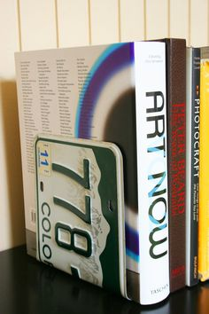 Colorado License Plate Bookends by Joonia on Etsy License Plate Crafts, Old License Plates, License Plate Art, Mountain Designs, Fun Projects, Project Ideas, Bookends, Decoration, Diy Crafts