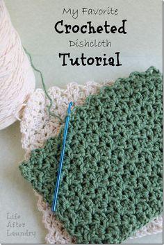 crochet dishcloth (rapide et efficace selon la blogueuse)