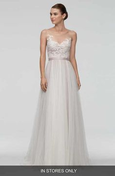 Watters 'Azriel' Illusion Neckline Lace & Net A-Line Gown (In Stores Only) | Nordstrom