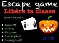 Here is a little game concocted for my class The tests are rather intended for pupils of In the manner of ESCAP Little Games, Games For Kids, Diy For Kids, Maths Halloween, Escape Room Challenge, Breakout Edu, Core French, French Phrases, Cycle 3