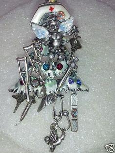 Kirks Folly Nurse Angel Christmas Tree PIN