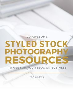 """If you haven't heard of """"styled stock,"""" it's a term used to describe a stock photo that has been styled to match a certain aesthetic. These photos typically feature a desktop, tech (computer, laptop, tablet, etc.) and other fun desktop items."""