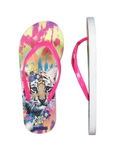 Justice is your one-stop-shop for on-trend styles in tween girls clothing & accessories. Shop our Photoreal Tiger Flip Flops. Flip Flop Shop, Dance Rooms, Girls Flip Flops, Shop Justice, Tween Girls, Shoe Shop, Vibrant Colors, Girl Outfits, Cute