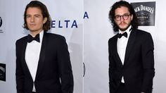 If Orlando Bloom was Superman, Kit Harington would most certainly be his Clark Kent. Both the Lord of the Rings actor and Game of Thrones star showed up in tuxedos for the the Friars Foundation Gala honoring Robert De Niro and Carlos Slim at The Waldorf Astoria on October 7, 2014 in New York City, and aside from Harington's glasses and stubble, these two could pass for brothers -- or even the same person. Do you see the uncanny resemblence?!