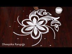 Simple Diwali Rangoli with 7x4 dots | Diwali Special Kolam | Deepavali Muggulu | DheepiikaRangolis - YouTube
