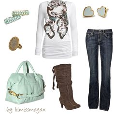 """Fall into Mint & Taupe"" by lilmissmegan on Polyvore"