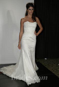"Augusta Jones - 2013. ""Bell"" strapless beaded lace A-line wedding dress with a sweetheart neckline, Augusta Jones"