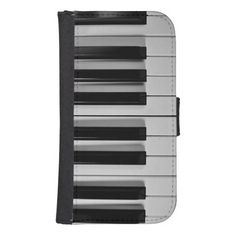 Piano Keyboard Samsung Galaxy S4 Wallet Case--Whether you are a piano virtuoso or someone who can barely play Chopsticks, you are sure to love this black and white Piano Keyboard Custom Samsung Galaxy S4 Wallet Case. #wallet #phones #cases #Samsung #GalaxyS4 #piano #keyboard #music #musician #Zazzle