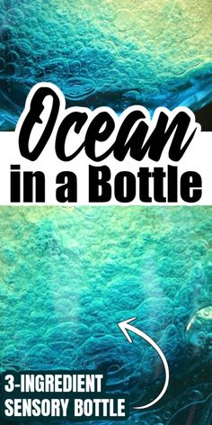 Make an Ocean in a Bottle with 3 simple ingredients. Great science experiment for kids as well as an effective calm down tool or sensory bottle. Science Experiments For Preschoolers, Science For Kids, Water Experiments For Kids, Science Fun, Writing Prompts For Kids, Kids Writing, Steam Activities, Sensory Activities, Calm Down Bottle