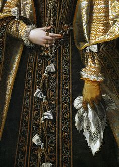 Alonso Sánchez Coello, Anna of Austria, Queen of Spain (detail) 1571
