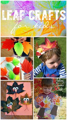 fun leaf crafts for kids to make