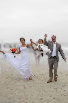 If there is a kid, use him or her. beach wedding with kids Photo by www.kirby.com