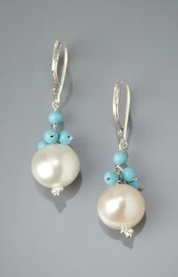 ideeli | LIV OLIVER Bead Cluster and Pearl Drop Earrings