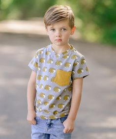 This Gold Hedgehog Pocket Tee - Toddler & Boys is perfect! #zulilyfinds