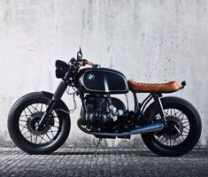 "dropmoto: "" Loving this Navy x Caramel combo on the latest BMW from the crew at 📷 Custom Bmw, Custom Cafe Racer, Bmw Cafe Racer, Cafe Racer Build, Custom Bikes, Cafe Racers, Cool Motorcycles, Vintage Motorcycles, Bmw R100 Scrambler"