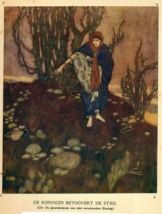 Stories from the Arabian nights retold by Laurence Housman; with drawings by Edmund Dulac (London: Hodder and Stoughton, Edmund Dulac, Chinese Art, Chinese Painting, Arabian Nights, Linocut Prints, Woodblock Print, Botanical Illustration, Asian Art, Japanese Art
