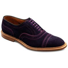 Special Edition WebGem - Purple Suede Strand - Cap-toe Lace-up Mens Dress Shoes by Allen Edmonds