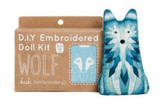 This DIY Wolf Embroidery kit makes a fun stocking stuffer gift for the crafter.