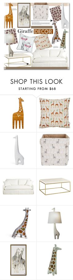 """Giraffe Decor"" by kusja ❤ liked on Polyvore featuring interior, interiors, interior design, home, home decor, interior decorating, Decoylab, Rosa & Clara Designs, Jonathan Adler and Home"