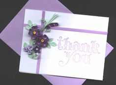 Quilled Thank You by flowergirl53 - Cards and Paper Crafts at Splitcoaststampers