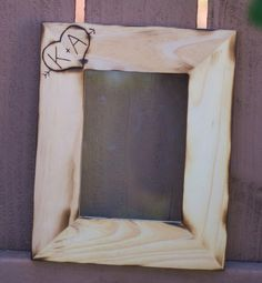 hand engraved wooden picture frame from braggingbags $19.99 #etsy #wedding #frame