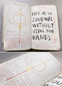 Potter frenchy party - Activité : Wreck this Journal / Saccage ce carnet - mes pages Harry Potter - harry potter theme pages