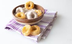These little gems are hard to resist warm from the oven and they're even better tossed with spiced sugar or dusted with Epicure Pure Cocoa. Epicure Recipes, Donut Recipes, Whole Food Recipes, Free Recipes, Baking Recipes, Menu Desserts, No Bake Desserts, Dessert Recipes, Mini Doughnuts