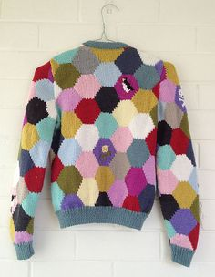 http://www.ravelry.com/projects/Imadeit/hexagon-cardigan