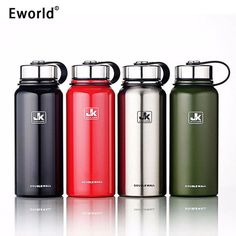 Eworld Stainless Steel Insulated Thermos Bottle Vacuum Flask Large Capacity Thermoses Thermal Coffe Garrafa Termica Sport Termos #Affiliate