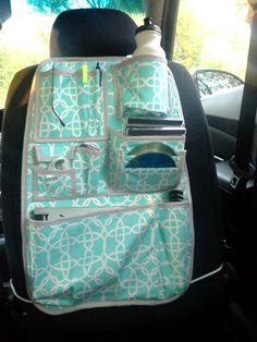 Adolescent Teenage Car Organizer Turquoise by babygirlscreations, $45.00