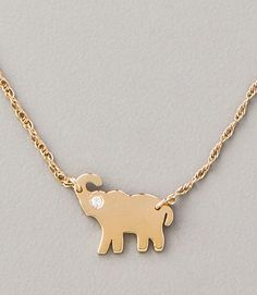 Mini Elephant Necklace by Jennifer Zeuner Jewelry