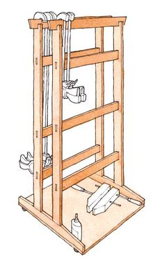 Download a FREE project plan for a Krenovian clamp rack on wheels - CLICK TO ENLARGE