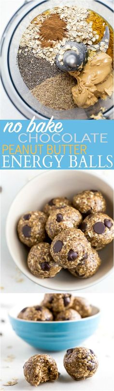 These Simple No Bake Chocolate Peanut Butter Energy Balls make the perfect snack, breakfast, or even dessert! They're packed with protein and taste like a Peanut Butter Cookie!   joyfulhealthyeats.com